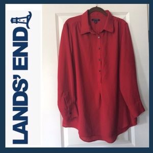 LANDS' END Long Sleeve Tunic Blouse
